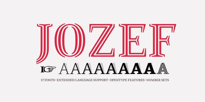 Jozef 线条描边衬线个性logo英文字体下载