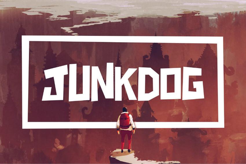 JunkDog矩形方块运动力量健身房英文字体下载