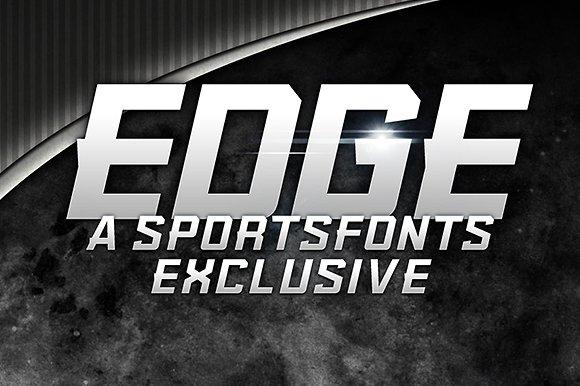 KBSFEdge质感中性汽车logo英文字体下载