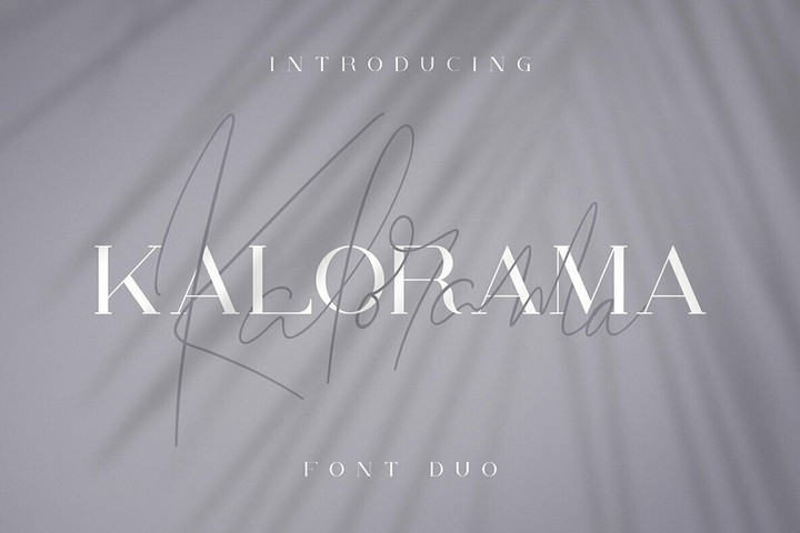 Kalorama衬线时尚服装电商英文字体下载