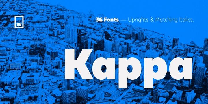 kappa现代无衬线英文字体家族下载