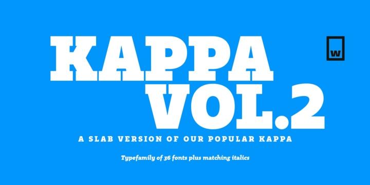 KappaVol2等宽现代logo英文字体下载