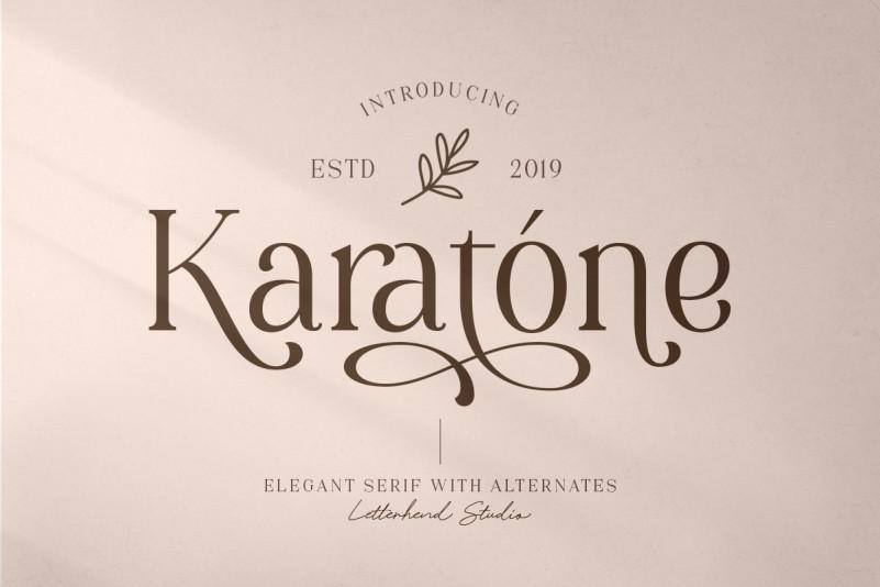 Karatone衬线时尚logo设计英文字体下载