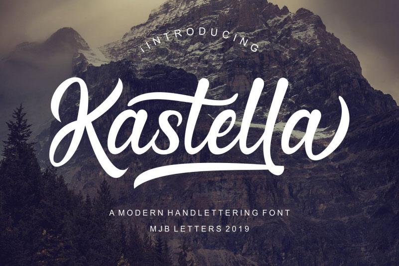 Kastella经典时尚连笔英文字体下载