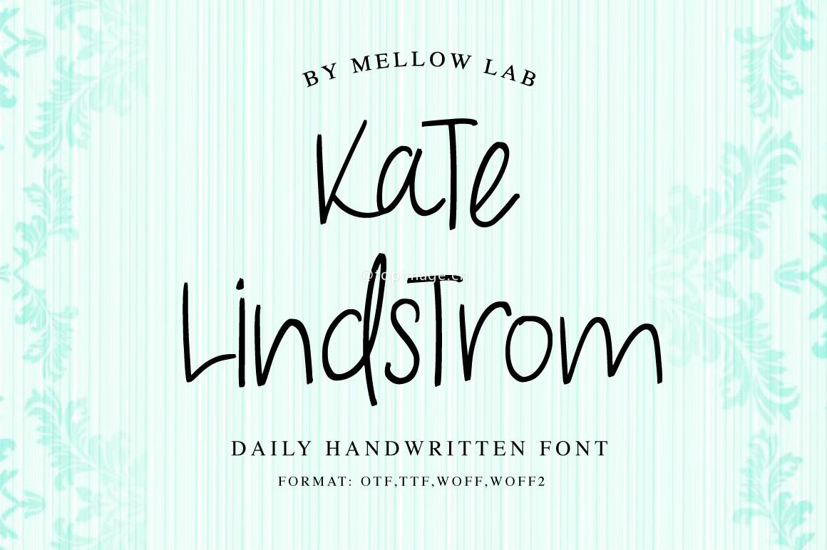 KateLindstrom手写装饰类海报英文字体下载