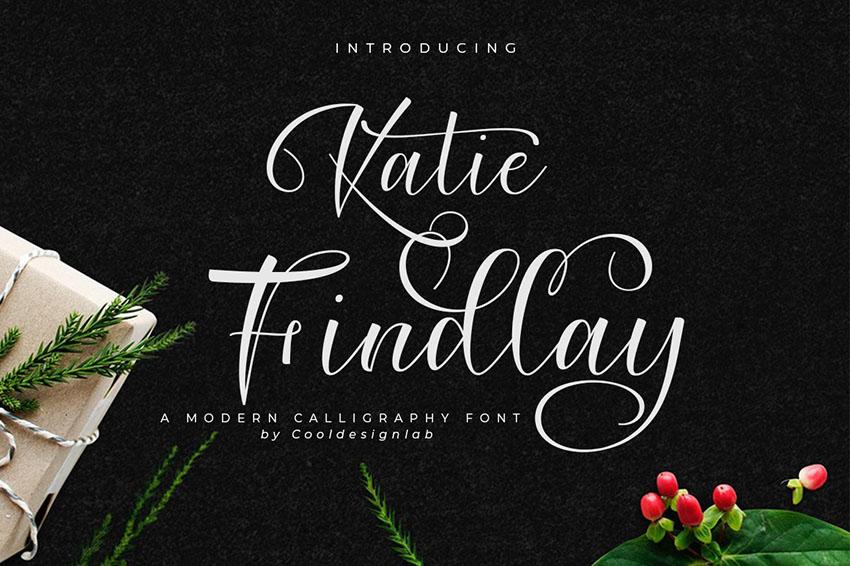 Katie Findlay花体连笔婚礼好看的英文字体下载