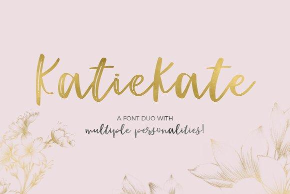 Katiekate手写连笔笔触婚礼好看的英文字体下载