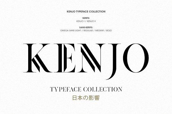 KenjoII衬线英文字体下载