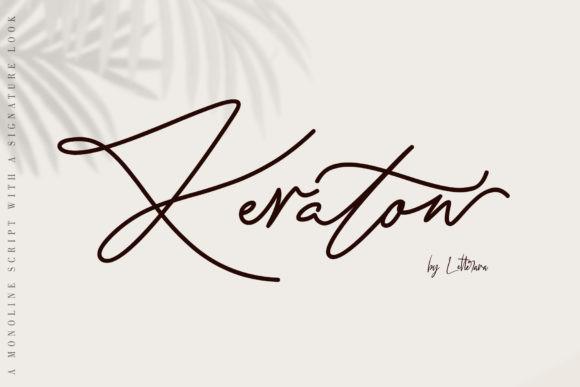 Keraton手写网红签名连笔手写字体下载
