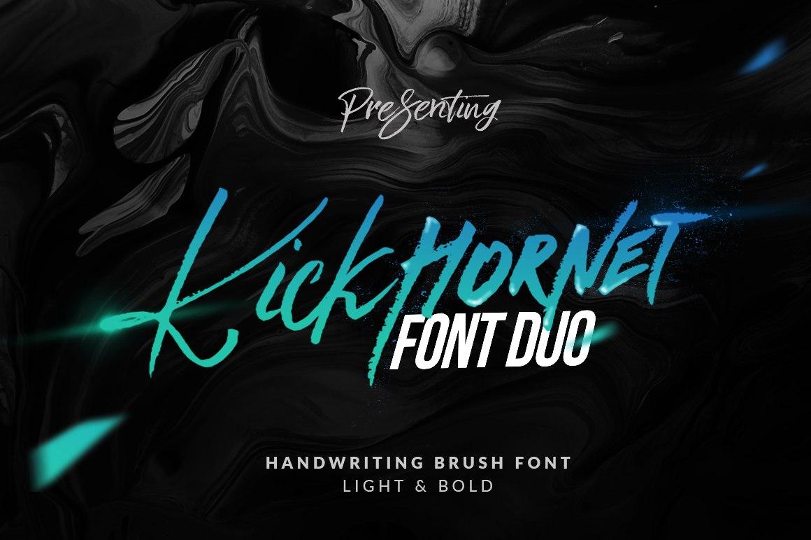 Kick Hornet手写书法连笔英文字体下载
