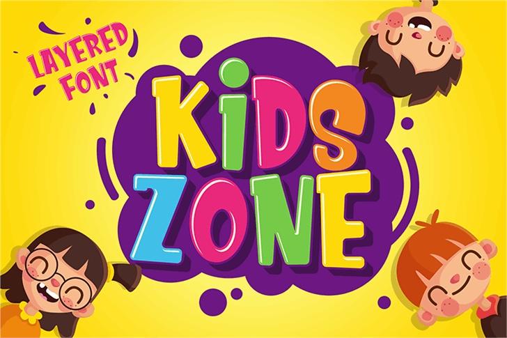 Kids_Zone卡通可爱手写英文字体下载