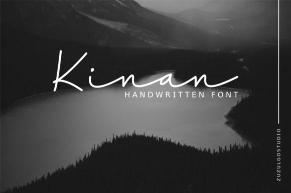 Kinan签名ins手写文艺连笔抖音网红英文字体下载