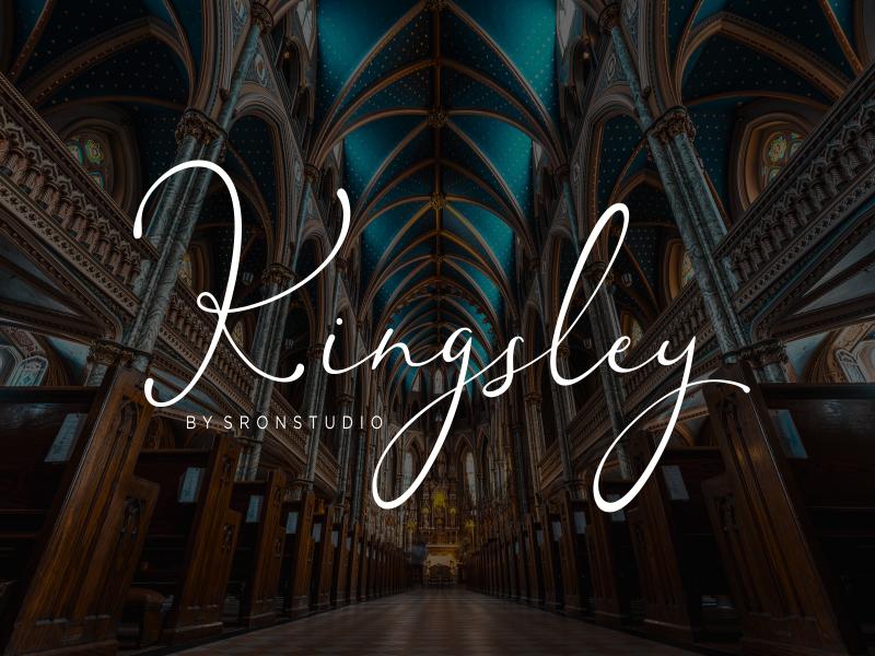 Kingsley纤细时尚高端手写连笔海报英文字体下载