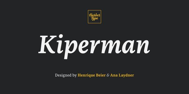 Kiperman衬线logo名片英文字体下载