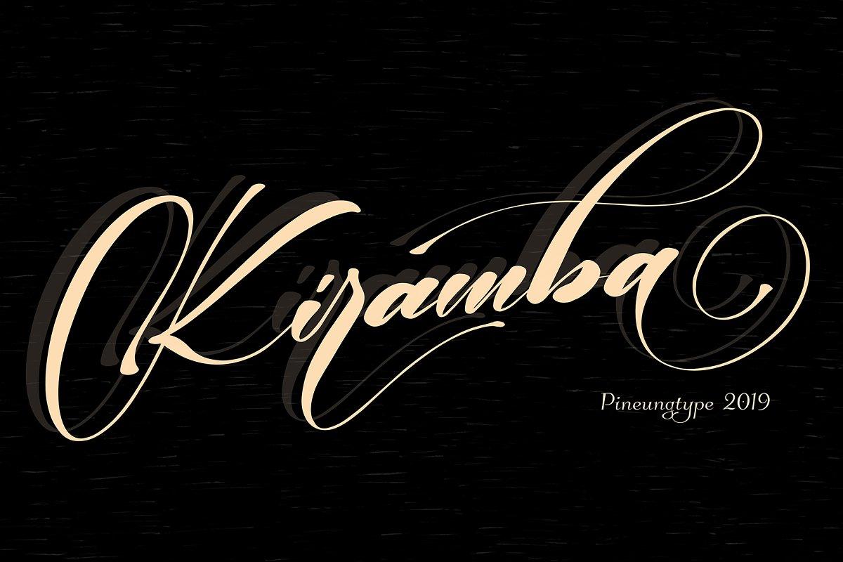 Kiramba唯美连笔飘逸婚纱英文字体下载