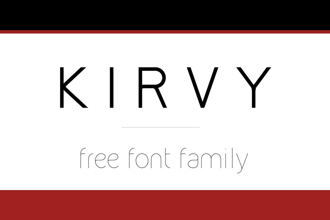Kirvy现代精致创意logo英文字体下载