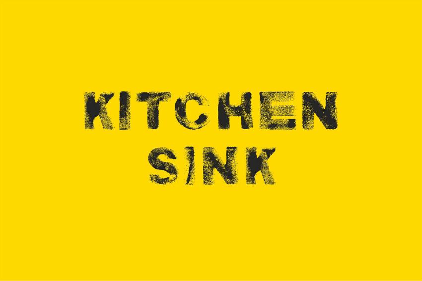 Kitchen Sink 纹理破损沙画英文字体下载