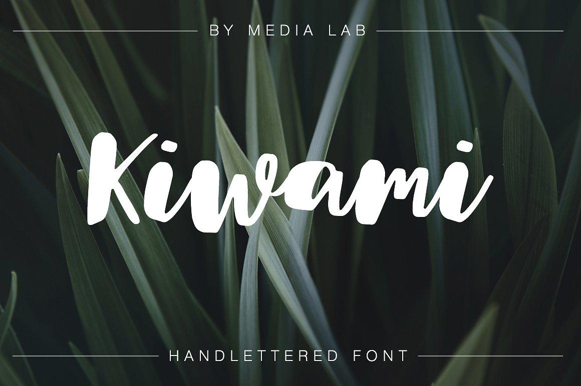 Kiwami高端大气海报手写连笔英文字体下载