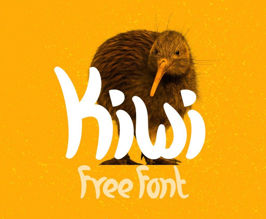 Kiwi手写卡通可爱英文免费字体下载