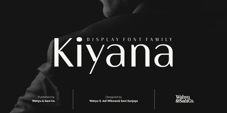 Kiyana优雅文艺排版设计logo无衬线英文字体下载
