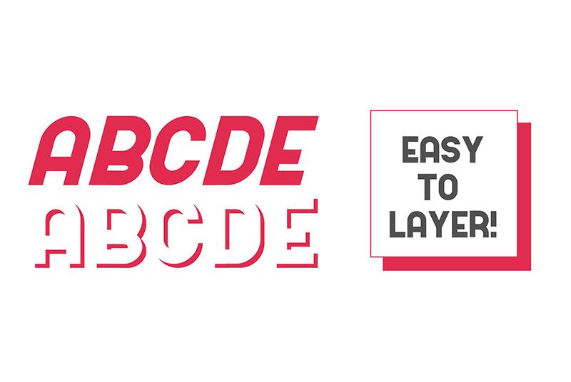 Kodek现代无衬线名片logo英文字体下载