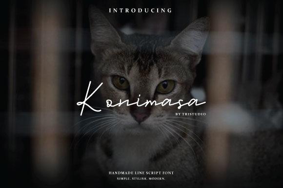 Konimasa个性签名海报手写钢笔英文字体下载