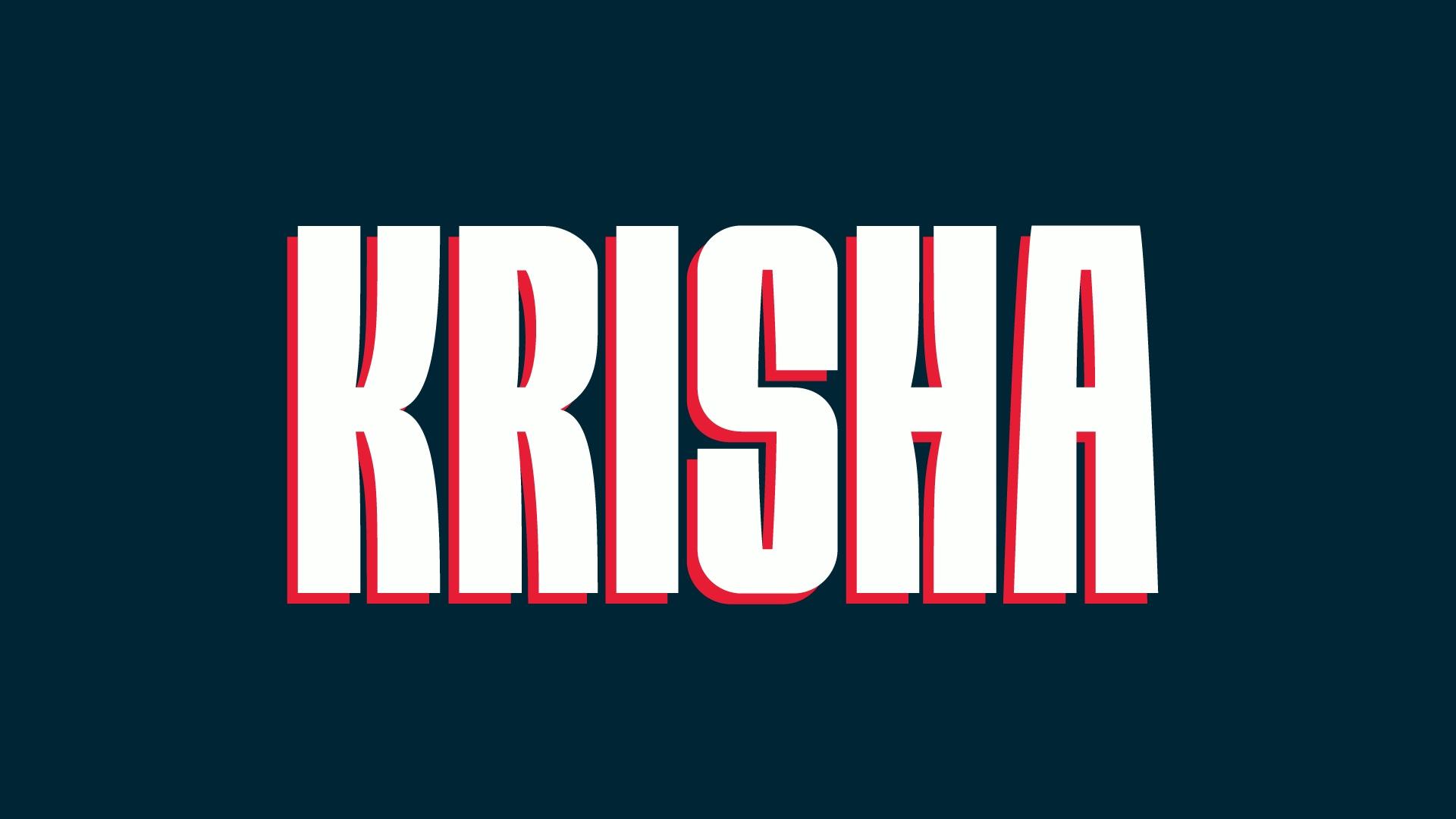 Krisha现代无衬线力量运动英文字体下载