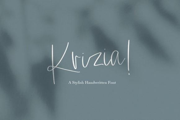 Krizia手写签名随意好看的英文字体下载