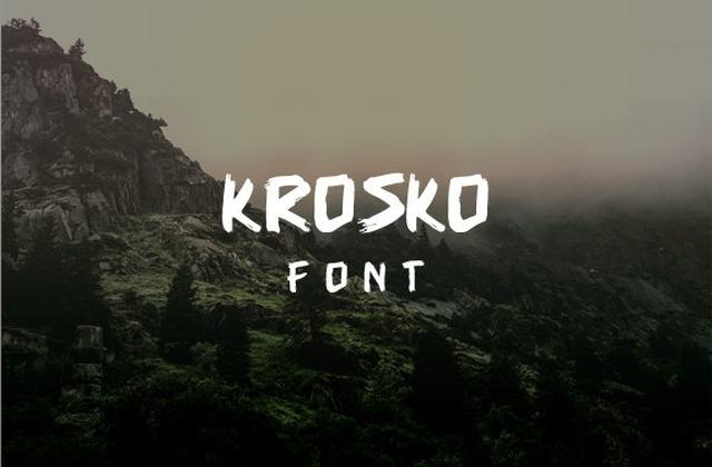 Krosko笔触书法英文字体下载