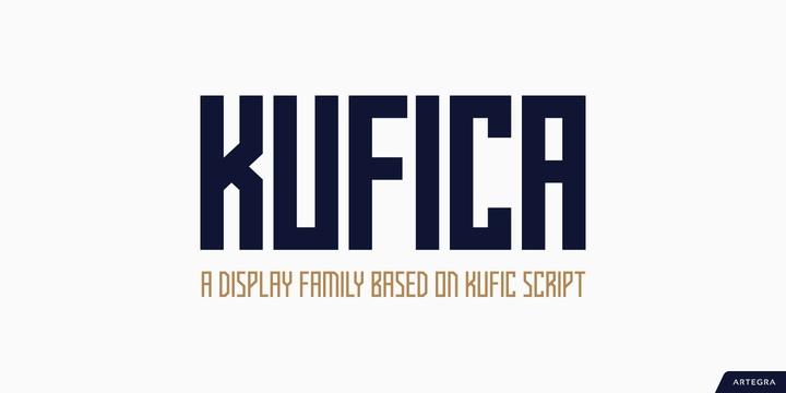 Kufica现代创意设计logo英文字体下载