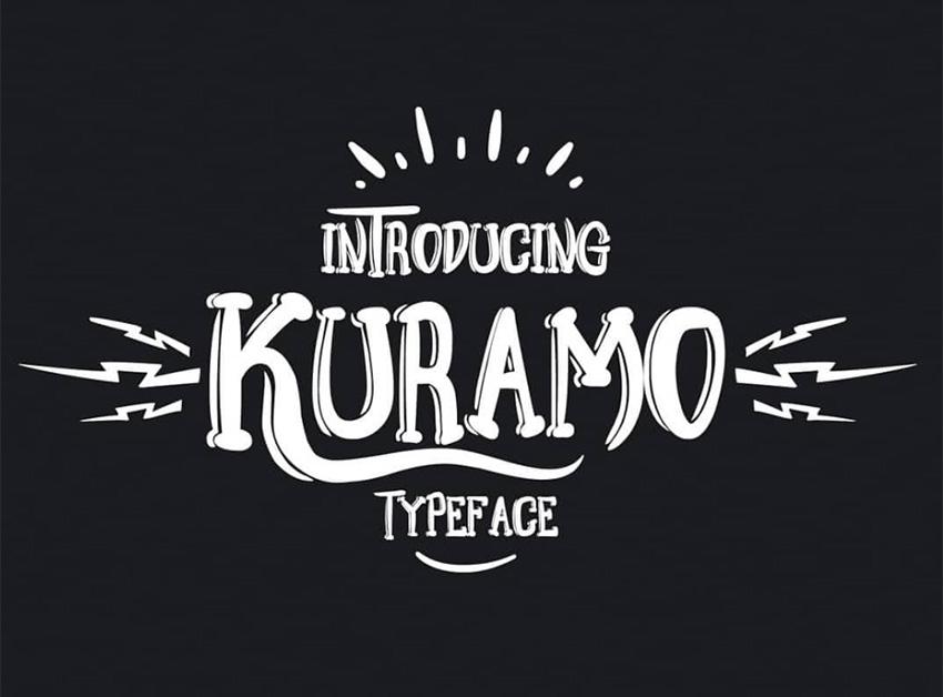 Kuramo手写创意游戏英文字体下载