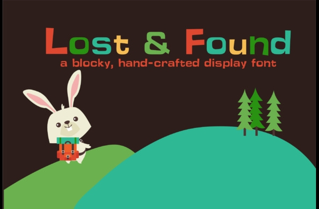 LD Lost and Found 手写手绘卡通英文字体下载