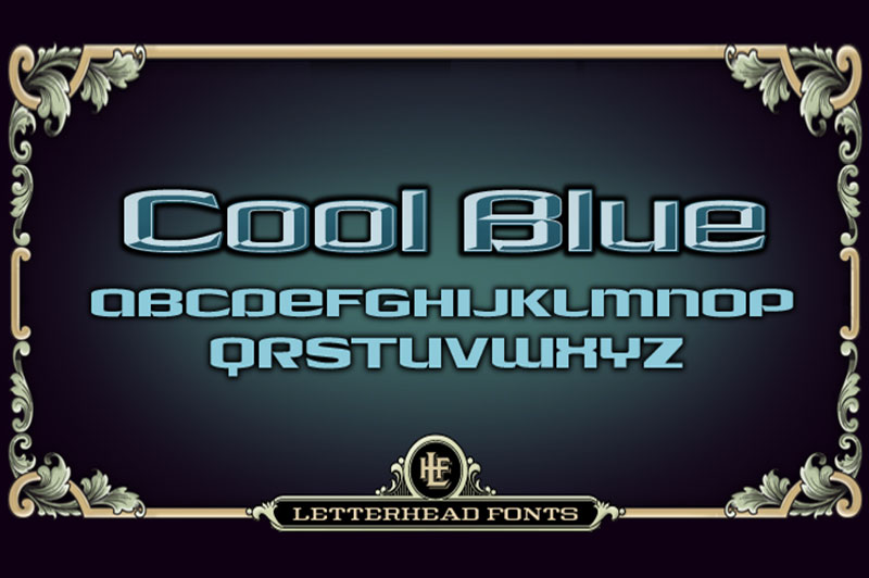 LHF Cool Blue现代logo英文字体下载