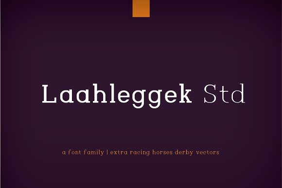 Laahleggek简约衬线英文字体下载(系列字体)