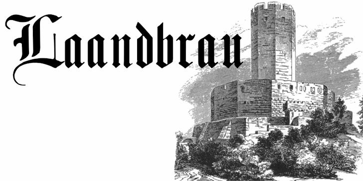 Laandbrau文化衫纹身哥特英文字体下载