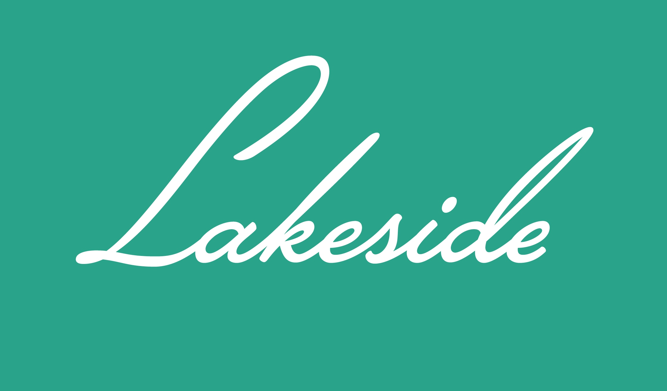 Lakeside手写连笔签名英文字体下载