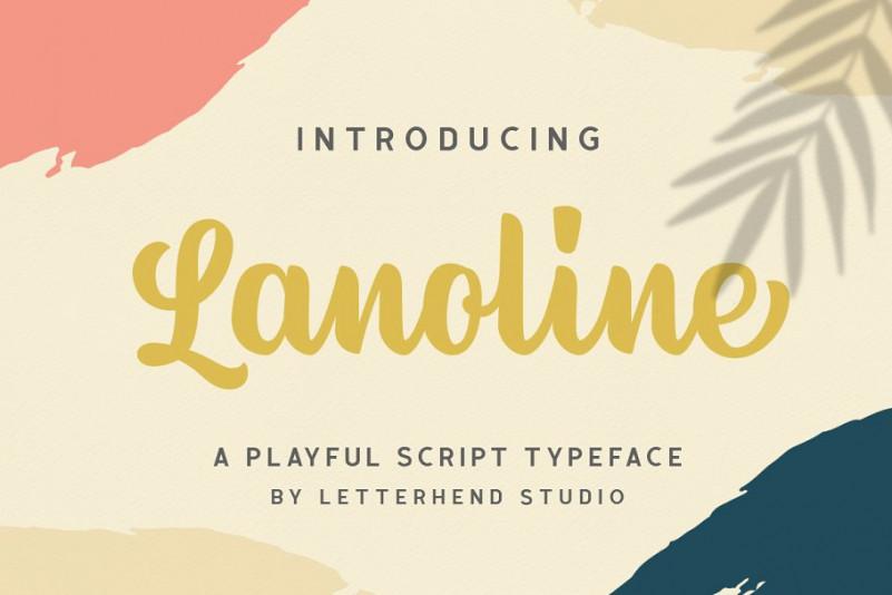 Lanoline手写连笔好看的时尚英文字体下载