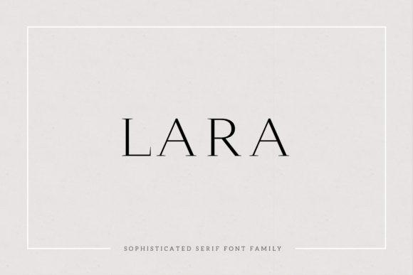 Lara衬线简洁现代风格英文字体下载