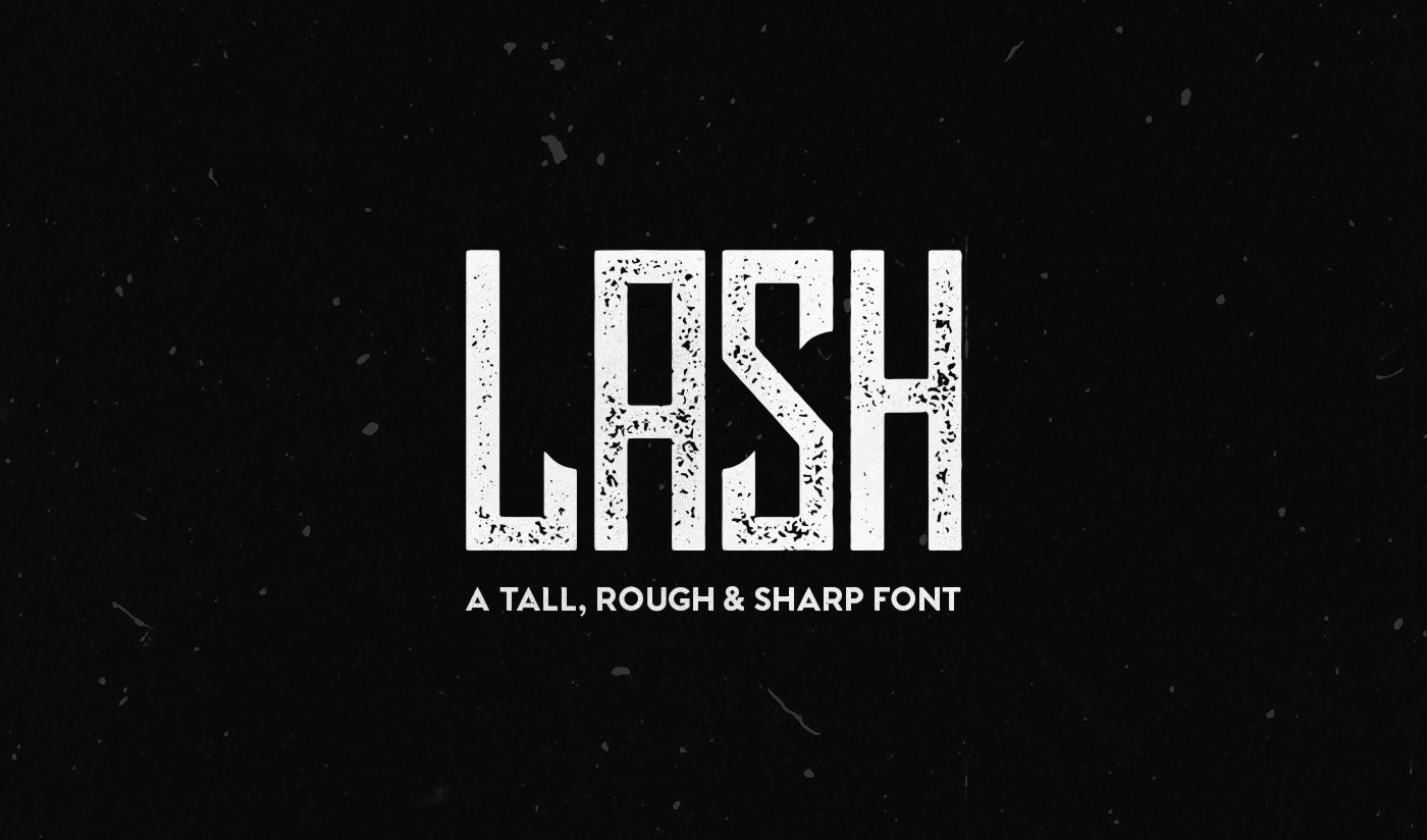 Lash Rough破损纹理英文字体个性海报字体下载