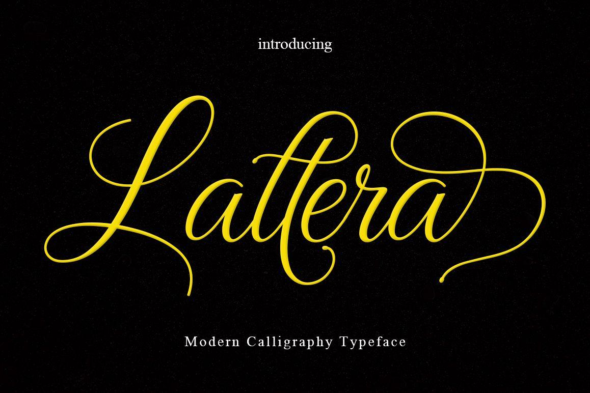 Lattera现代婚礼花体时尚连笔英文字体下载