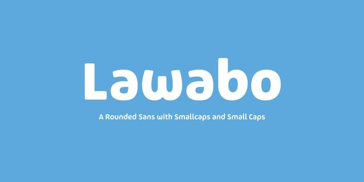 Lawabo可爱童趣电商手绘海报英文字体下载