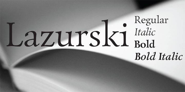 Lazurski衬线设计logo英文字体下载