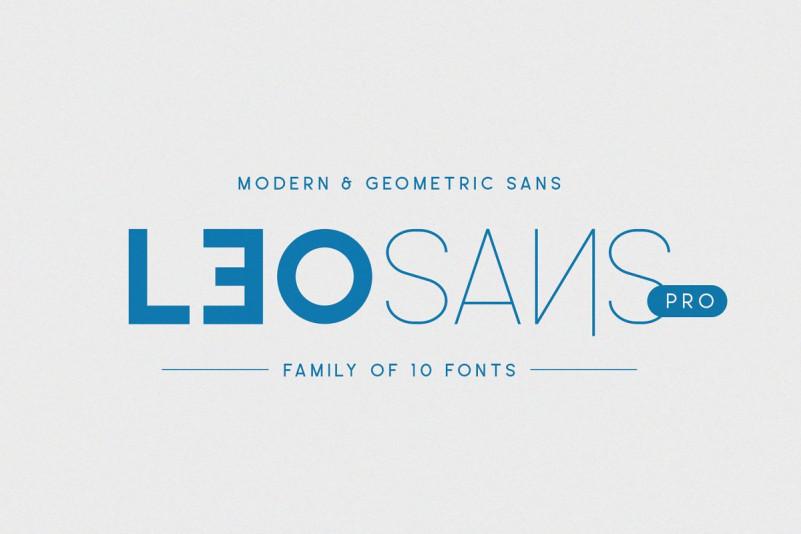 LeoSansPro 无衬线创意设计logo转换英文字体下载