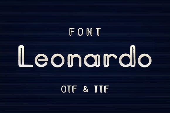 Leonardo时尚质感创意logo英文字体下载