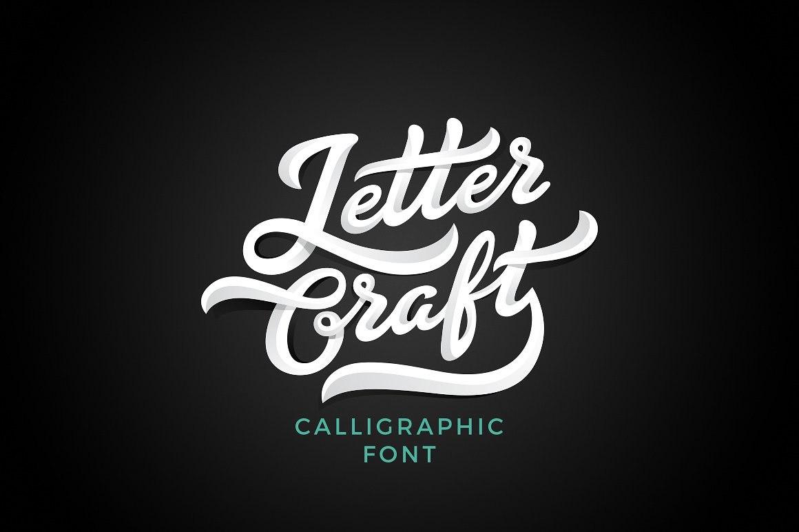 Letter Craft手写时尚连笔logo艺术英文字体下载