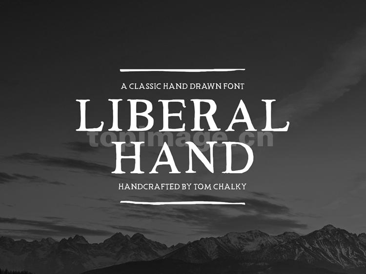 LiberalHand衬线复古手写个性经典英文字体下载