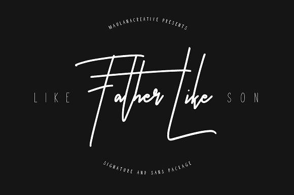 Like Father Like Son手写连笔艺术签名英文字体下载