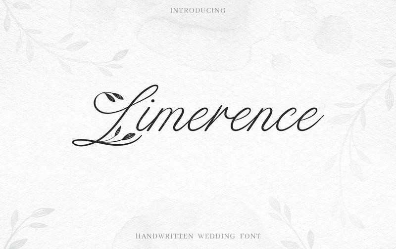 Limerence文艺手写唯美好看的英文字体下载