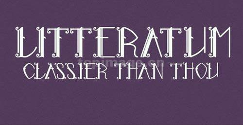 Litteratum哥特式连笔个性海报英文字体下载