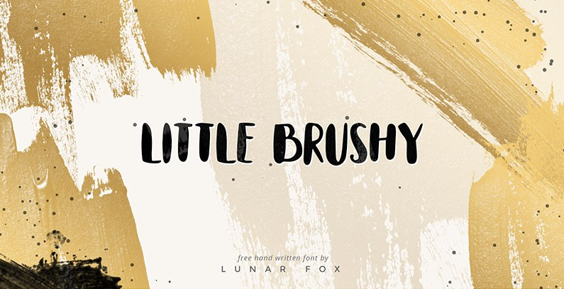 LittleBrushy手绘时尚海报可爱英文字体下载